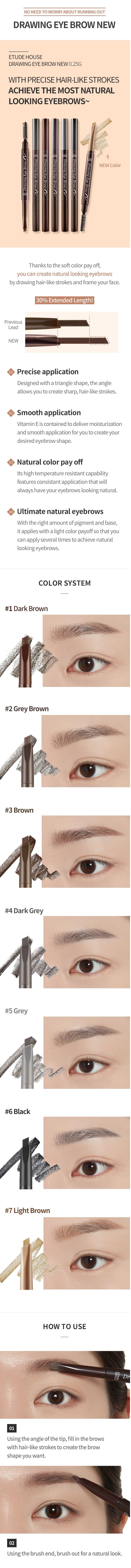 Drawing Eye Brow # 1 Dark Brown