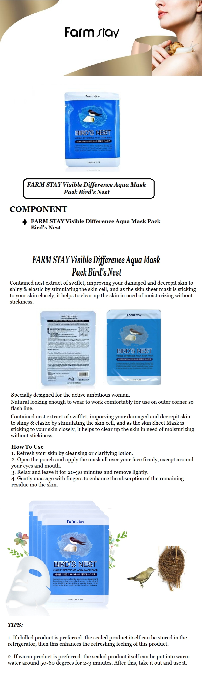 Visible Difference Mask Sheet 10ea - Bird's Nest