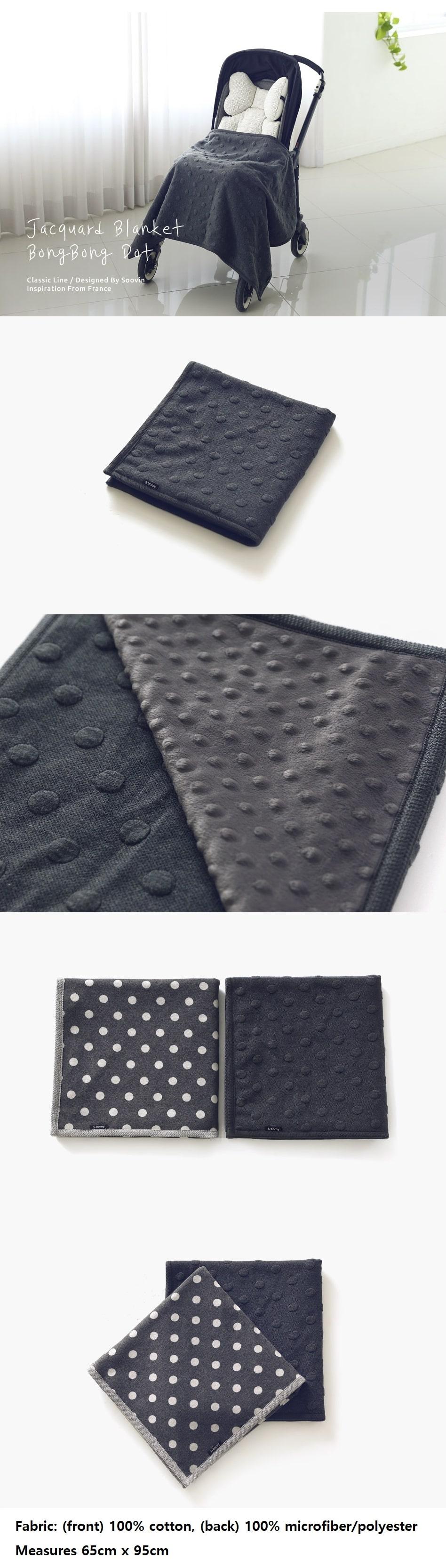Large Blanket - Jacquard Black