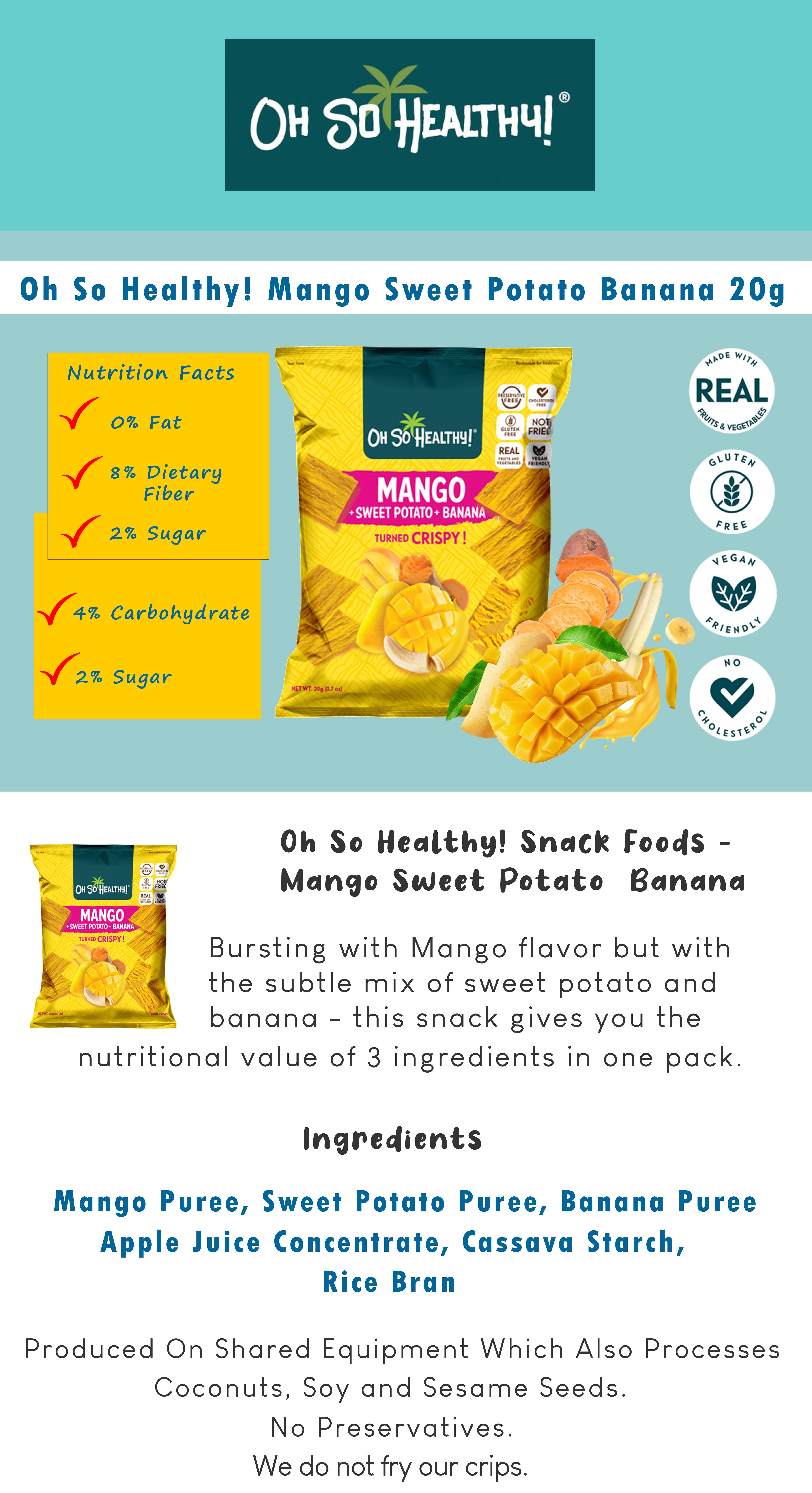 Mango Sweet Potato Banana 20g