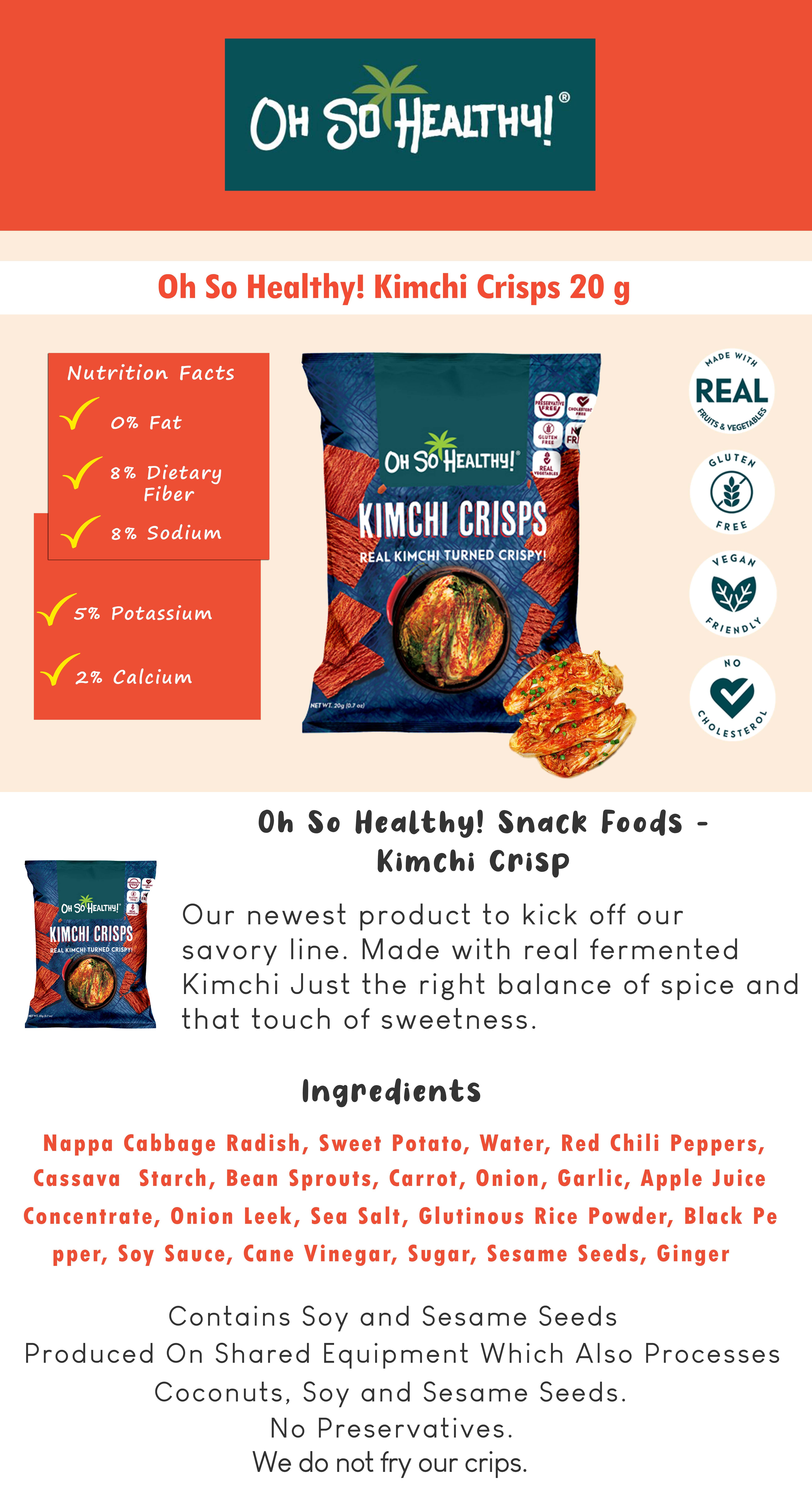 Kimchi Crisps 20g