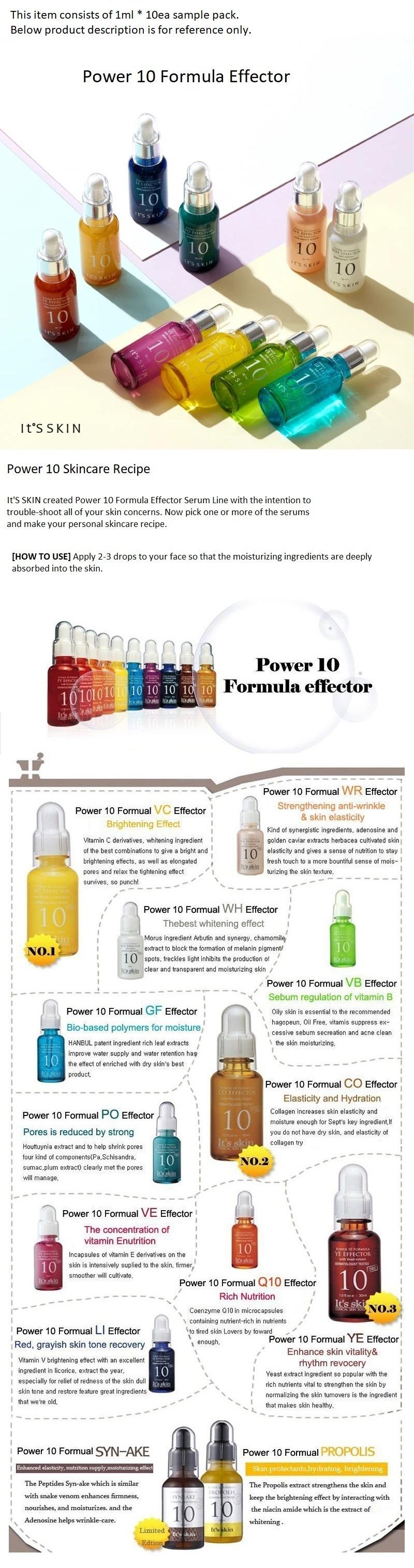 Power 10 Formula Effector 1ml 10ea Sample - SYN-AKE