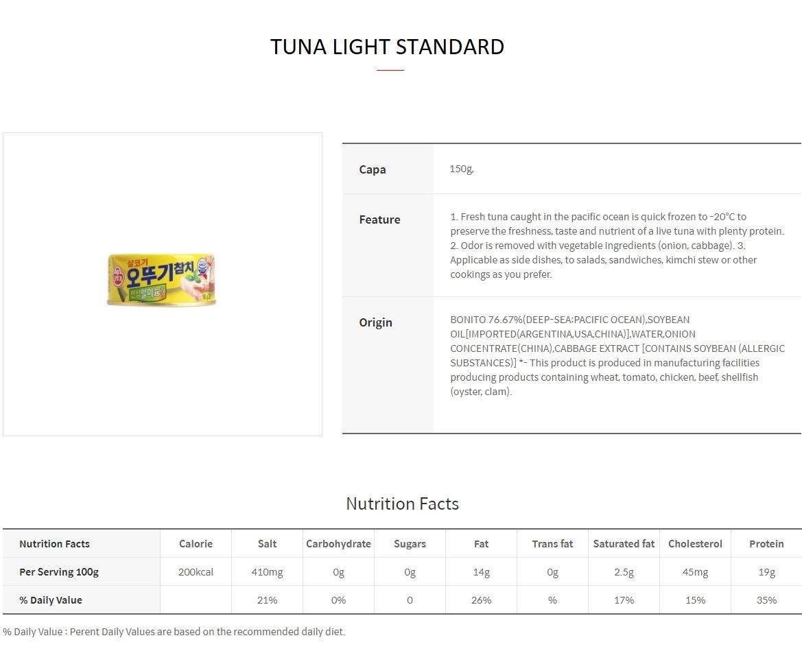 Tuna Light Standard 150g