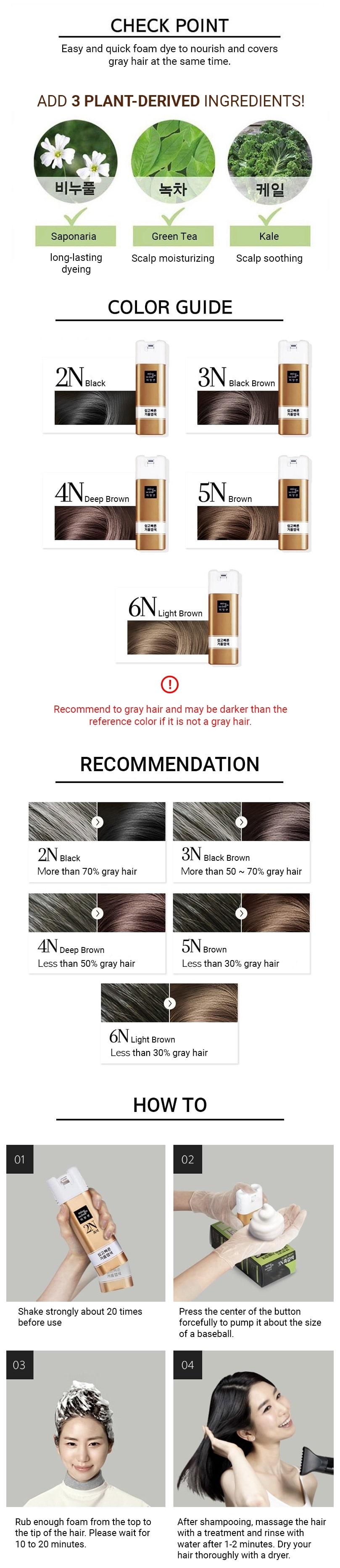 Easy Speedy Foam Hair Dye/6N (Bright Brown)