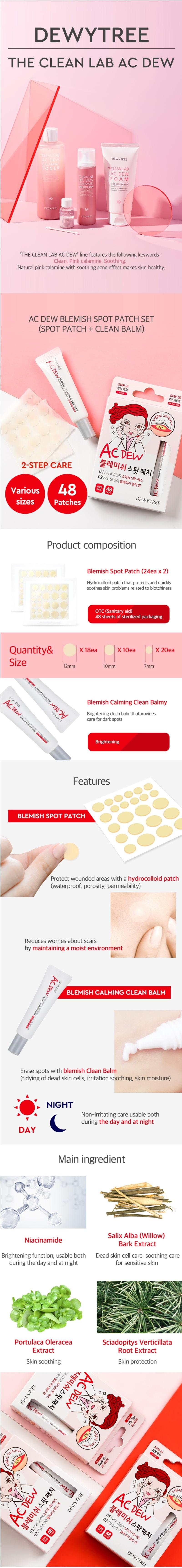AC Dew Blemish Spot Patch + Clean Balm